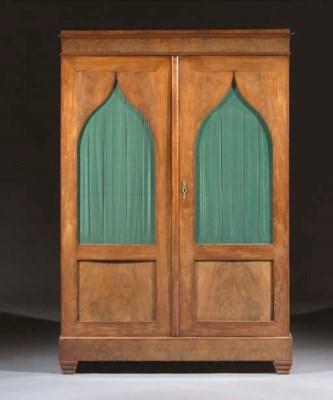 A Dutch mahogany bookcase