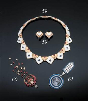 A Diamond, Gem-Set And Mother-