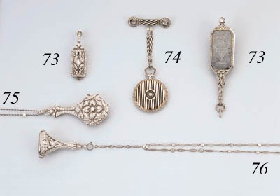 An Antique Diamond Watch Neckl