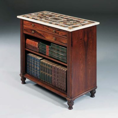 A REGENCY ROSEWOOD AND SPECIME