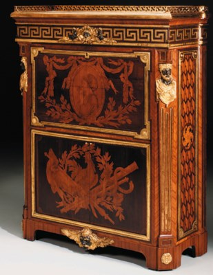 a late louis xv ormolu mounted marquetry secretaire en armoire circa 1763 1768 by jean henri. Black Bedroom Furniture Sets. Home Design Ideas