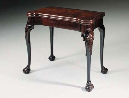 AN IRISH GEORGE II MAHOGANY CA