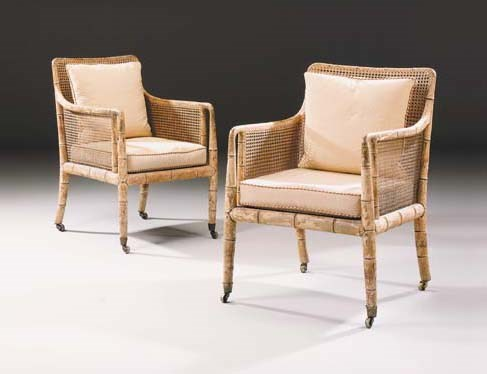 A PAIR OF REGENCY BEECH AND SI