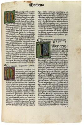 BIBLE, in Latin. Venice: Franc