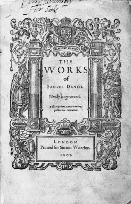 DANIEL, Samuel (1562-1619). Th