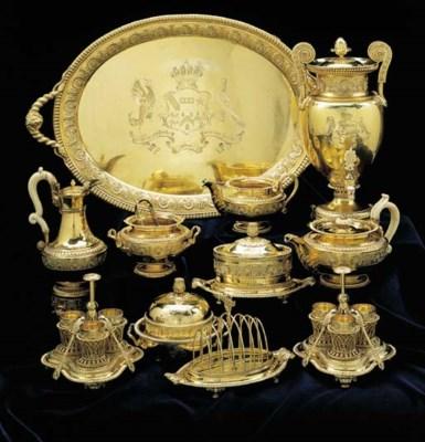 A George III silver-gilt twelv