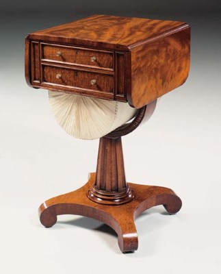 A GEORGE IV MAHOGANY AND FIDDL