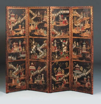 A DUTCH POLYCHROME-PAINTED AND