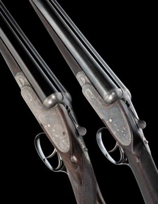 A PAIR OF 12-BORE (2¾in) SIDEL