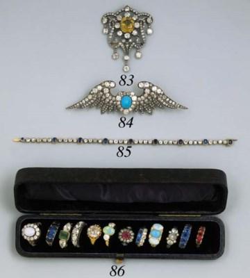 A COLLECTION OF TWELVE gem-set