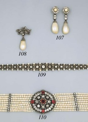 A Antique Pearl And Diamond Br