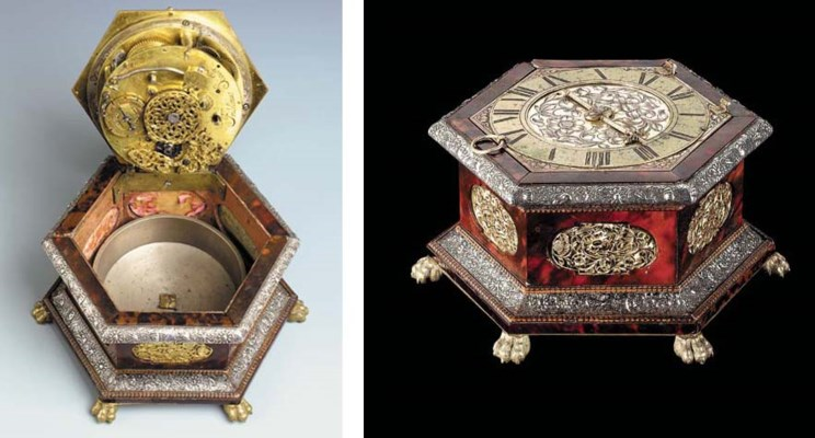 A CONTINENTAL GILT-METAL AND S