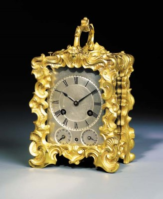 An unusual French gilt-brass s