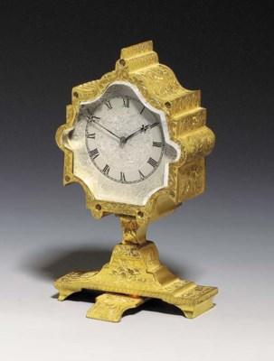 A Victorian engraved gilt-bras
