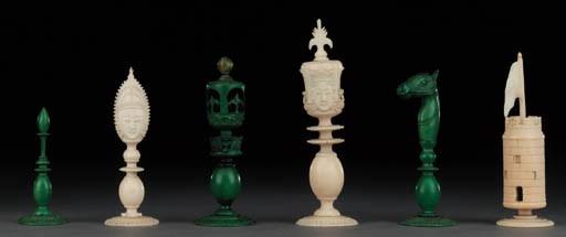 A Burmese ivory chess set