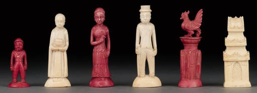 An Indonesian ivory figural ch