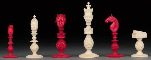 A Macao ivory chess set