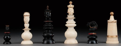 An adapted Macao ivory chess s