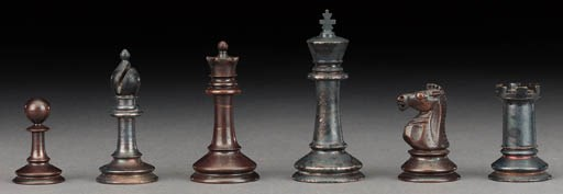 An English bronze and silver p