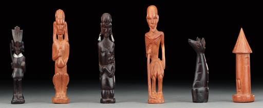 An African figural hardwood ch