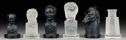 A Czech Republic glass bust ty