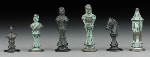 A German cast iron bust set