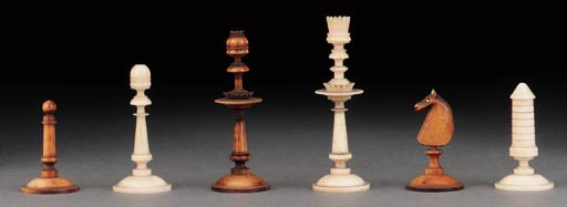 A German bone chess set