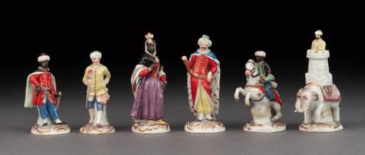 A Meissen porcelain figural ch