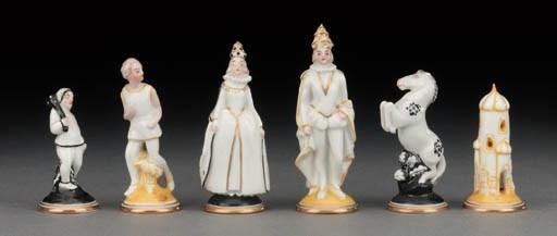 A Viennese porcelain figural c