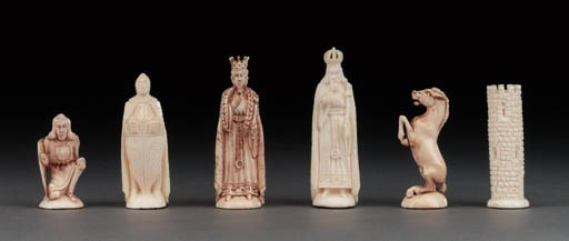 A Continental ivory figural ch