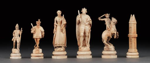 A French Paris type ivory and