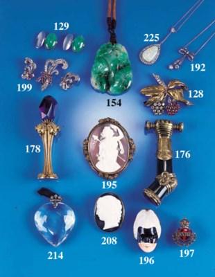 A diamond pendant necklace,