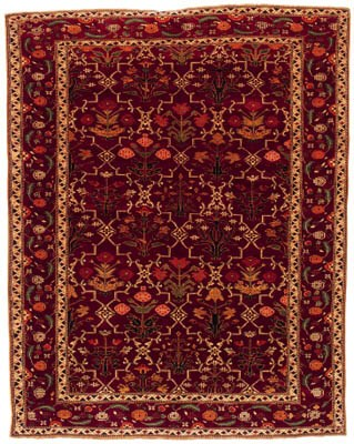 A fine small Indian carpet of