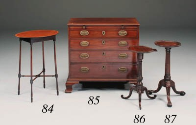 A George III mahogany and inla