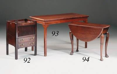 A George III mahogany hall or
