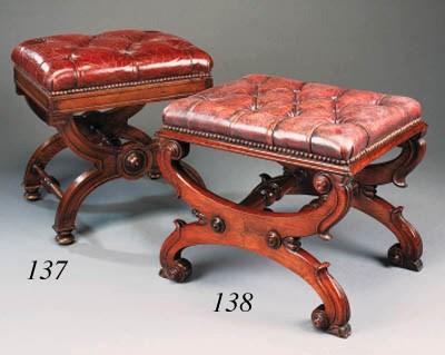 A Regency rosewood stool, earl