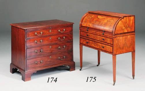 An early George III mahogany c