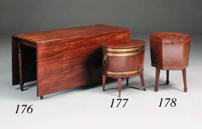 A George III mahogany drop-lea