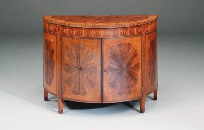 A mahogany, satinwood, harewoo
