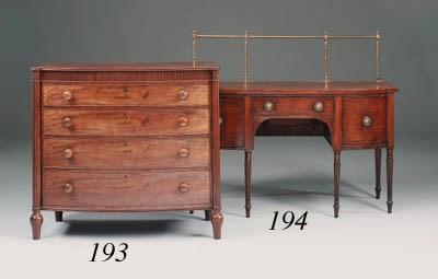 A Regency mahogany bowfront si