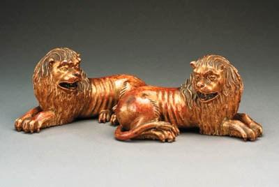 A pair of Italian carved giltw