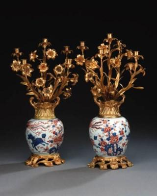 A pair of Chinese Imari 18th c
