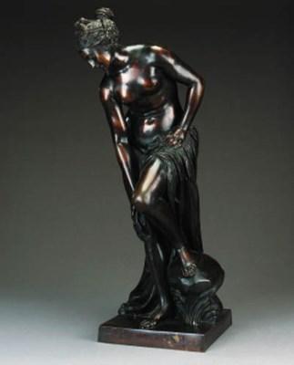 A French bronze figure of Venu