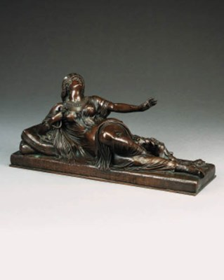 A bronze model of Cleopatra, l