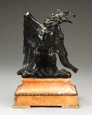 A bronze model of an eagle, pr