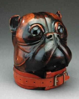 A Victorian dogs' head tobacco