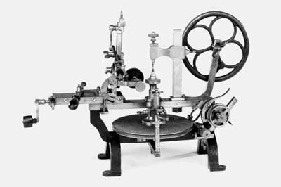 A clockmaker's wheel-engine,