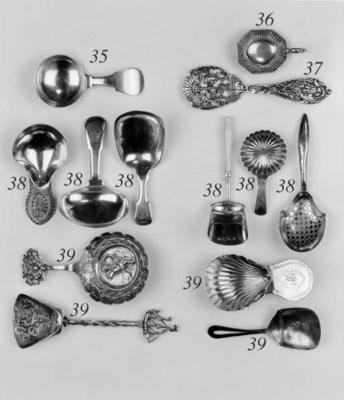 A George III caddy spoon,