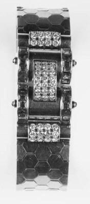 A 1940's diamond and ruby brac