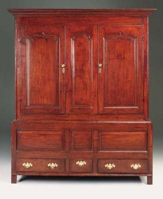 An oak press cupboard, Welsh o